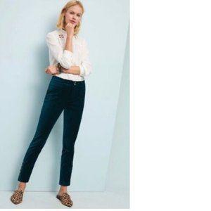 Anthropologie The Essential Velvet Slim Trousers